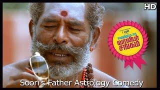Varuthapadatha Valibar Sangam Tamil Movie | Scenes | Soori's Father Astrology Comedy