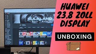 Huawei Display (AD80HW) 23.8 Zoll Monitor Unboxing + Menü + Ersteindruck (Deutsch)