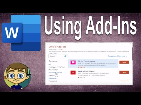 Intermediate Microsoft Word Tutorial – Using Word Add-Ins
