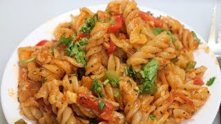 Indian Restaurant Style Red Sauce Pasta | Kids Lunch Box Recipe