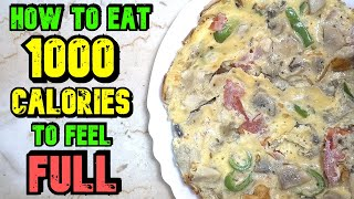 How To Eat 1000 Calories A Day And Feel Full // Meal Ideas To Feel Full & To Lose Weight