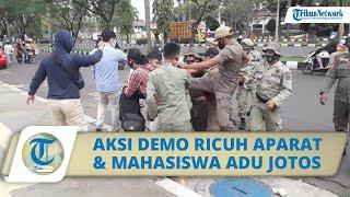 Aksi Demo di Depan Gedung Bupati Bogor Berakhir Ricuh Aparat dan Mahasiswa Terlibat Adu Jotos
