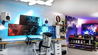 My 2021 ULTIMATE Gaming Setup & YouTube Studio Tour!