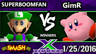S@X 134 - VGBC   GimR (Kiry) Vs. SuPeRbOoMfAn (Fox, Luigi) SSB64 Tournament - Smash 64 - dooclip.me