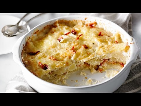 Scalloped Potatoes with Bacon and Sun-Dried Tomatoes | Anyday Magic