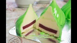 Муссовое пирожное Мусс на белом шоколаде и малиновое компоте