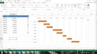 Excel Gantt Chart Tutorial - How to Make a Gantt Chart in Microsoft Excel 2013 Excel 2010 Excel 2007