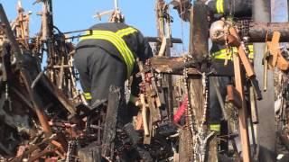 EBU Lithuania Hill of Crosses fire
