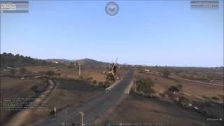 Arma 3 Wasteland : Lucky pawnee crashlanding