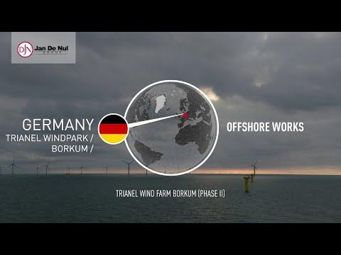 The offshore wind farm Trianel Windpark Borkum II comprises 32 offshore WTGs of 6.33 MW each.