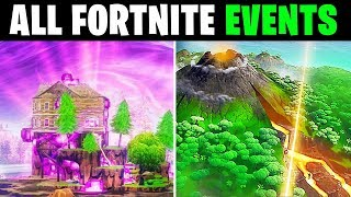 ALL Fortnite Events Season 1 to Season 8 in ONE Video!!