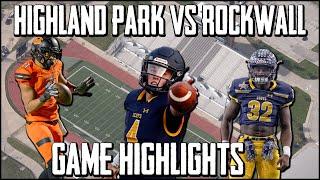 Rockwall vs Highland Park - 2019 Week 1 Football Highlights