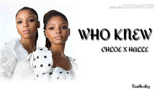Chloe X Halle   Who Knew (Lyrics)