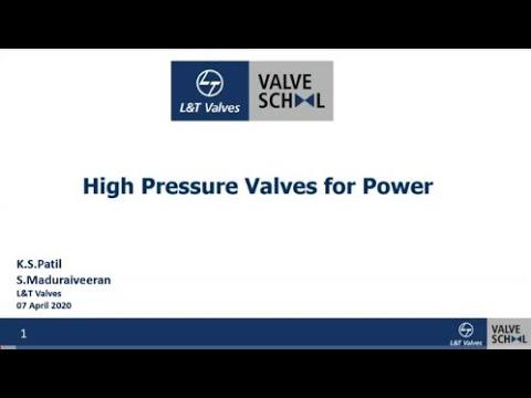 L&T Pressure Seal Globe Valves