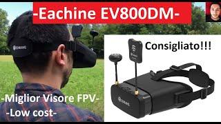 Miglior Visore Fpv con DVR integrato e Antenne True Diversity a basso costo | Eachine EV800DM