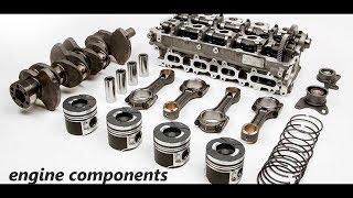 Automobile Engine components/Engine parts/ Basic components of IC engine/Auto mobile/Automobile