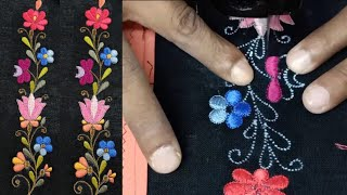 Simple Shirt Design By Qaish Machine Embroidery! कढ़ाई मशीन द्वारा बनाया गया डिज़ाइन