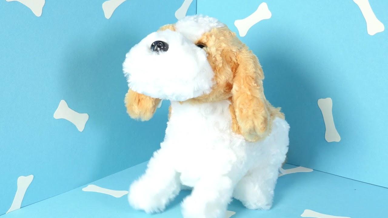 Kuscheltier Hund mit Berührungs- und Akustiksensor