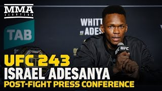 New undisputed UFC middleweight champion Israel Adesanya breaks down his win over Robert Whittaker at UFC 243, his possible fight against Paulo Costa, and what went into his dazzling walkout.   Subscribe: http://goo.gl/dYpsgH  Check out our full video catalog: http://goo.gl/u8VvLi Visit our playlists: http://goo.gl/eFhsvM Like MMAF on Facebook: http://goo.gl/uhdg7Z Follow on Twitter: http://goo.gl/nOATUI Read More: http://www.mmafighting.com Subscribe to the podcast: http://applepodcasts.com/mmahour  MMA Fighting is your home for exclusive interviews, live shows, and more for one of the world's fastest-growing sports. Get latest news and more here: http://www.mmafighting.com