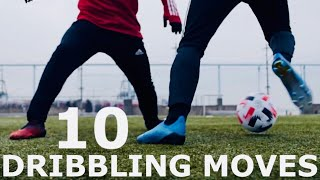 10 Dribbling Moves To Beat Defenders | Step By Step Dribbling Skills Tutorial