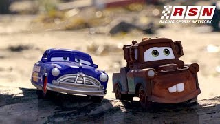 Cars Daredevil Garage Takes on the Beach | Racing Sports Network by Disney•Pixar Cars