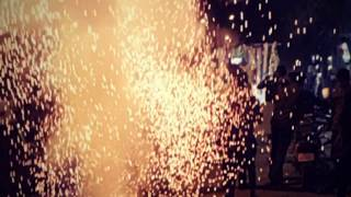 Stars are falling ||slow motion fire works in the sky || by the real slo mo..