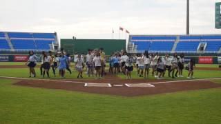 中平商圈熱舞高校桃園棒球場表演