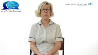 Adult Speech And Language Therapy-  Vocal Function Exercises