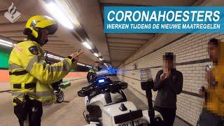 CORONAHOESTERS | Politie aan het werk tijdens de nieuwe maatregelen | Jan-Willem & Dennis