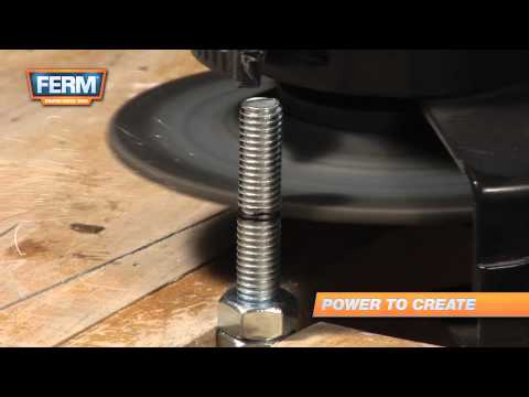 Cut Threaded Bolts With An Angle Grinder To Shorten Them