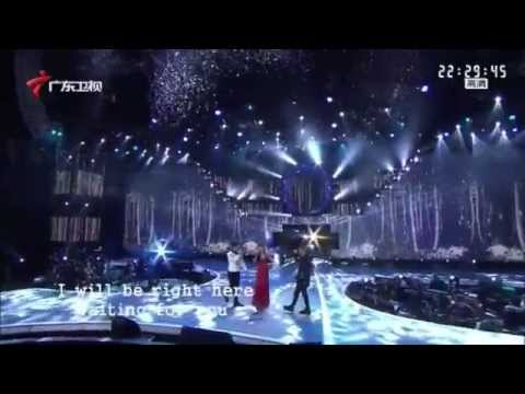 Yun Huang performs in Chinese New Year celebration concerts in a TV show in Guangdong Channel--GDTV.