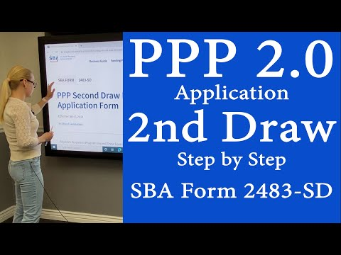 PPP 2 - PPP Loan Application Second Draw.  Step by step of NEW PPP 2.0 loan application. Form 2483SD