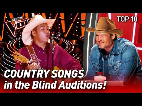 TOP 10 | COUNTRY SONGS that make The Voice CHAIRS spin like crazy