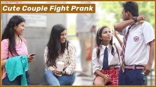 School Kids Couple Fighting in Public Prank  | Funky Joker