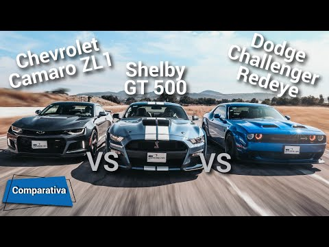 Ford Mustang Shelby GT500 VS Dodge Challenger Hellcat Redeye VS Chevrolet Camaro ZL1| Autocosmos