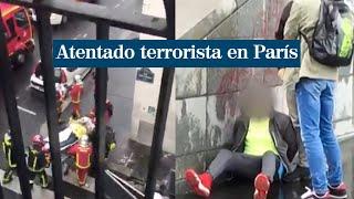 Dos heridos graves por arma blanca en un atentado cerca de la antigua sede de Charlie Hebdo