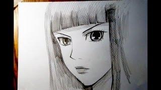 Смотреть онлайн Как поэтапно нарисовать лицо аниме девушки