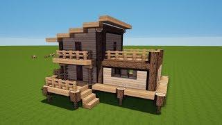 Minecraft Kleines Haus Bauen Aus Holz видео Видео - Minecraft hauser aus holz