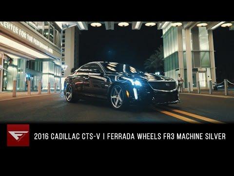 2016 Cadillac CTS-V | Ferrada Wheels FR3 Machine Silver