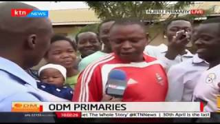 Kasarani voter gets excited after receiving a call that he has been spotted on live Television