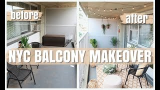 NYC Balcony Makeover, Deep Cleaning & Tour
