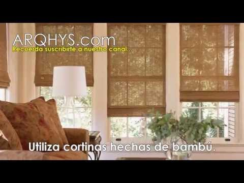 ¡4 Ideas de decoracion con bambu! - Cortinas, alfombras, lamparas y biombos