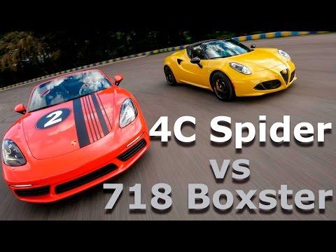 Alfa Romeo 4C Spider vs Porsche 718 Boxster