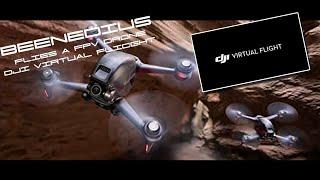 BEENEDIUS flies a FPV drone with DJI VIRTUAL FLIGHT