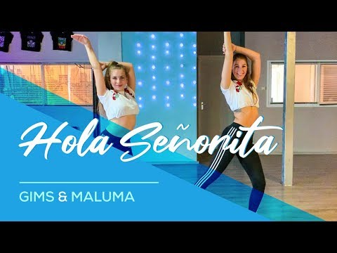 GIMS, Maluma - Hola Señorita - (Maria) Easy Fitness Dance Video Choreography