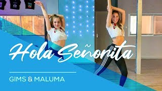 GIMS, Maluma   Hola Señorita   (Maria) Easy Fitness Dance Video Choreography