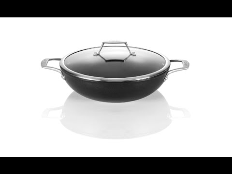 TECHEF - Onyx Collection, 12-Inch Wok / Stir Fry Pan with Glass Lid,