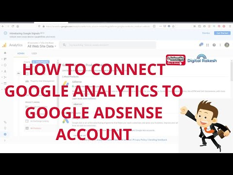 How to connect google analytics to google AdSense account