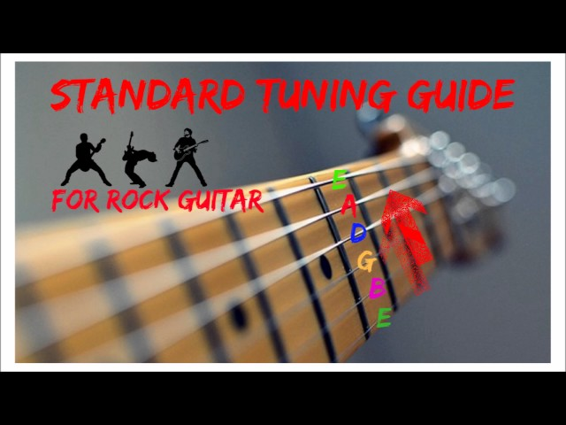 rock guitar tuner e standard tuning e a d g b e. Black Bedroom Furniture Sets. Home Design Ideas
