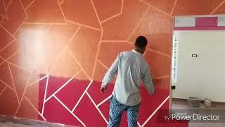 Asian Paints Royal Play Metallics New Ragging Wall Desing-coppper !! Interior Desing